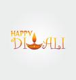 happy diwali logo design template vector image vector image