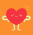 Happy Heart Feeling Good vector image vector image