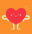 Happy Heart Feeling Good vector image