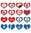 heart signs vector image vector image