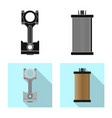 isolated object auto and part sign collection vector image