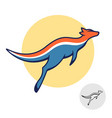 kangaroo logo jumping australian animal dynamic vector image