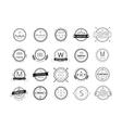 Massive logo badges template bundle vector image