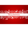Merry Christmas elements red postcard file vector image