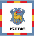 official government ensigns of istria vector image vector image