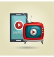 online tv isolated icon design vector image vector image