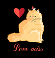 Persian cat in love vector image