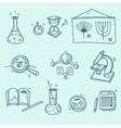Science icons set school laboratory chemistry vector image vector image