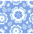 Seamless pattern blue with sakura blossom vector image vector image