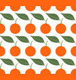 seamless pattern with mandarins vector image vector image