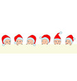 set christmas children babies in santa hats boys vector image