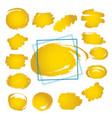 set hand drawn gpld scribble line shapes set vector image