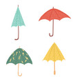 set umbrellas different forms on white background vector image vector image
