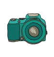 sketch a photo camera drawn hand vector image vector image