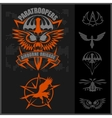 Special unit military emblem set design vector image vector image