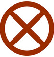stop sign icon flat style red stop sign vector image
