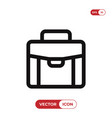 suitcase icon vector image vector image