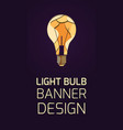 vertical banner with 3d layer a light bulb vector image vector image
