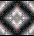 vintage 3d seamless pattern floral modern vector image vector image