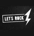 vintage stamp lets rock music print graphic design vector image