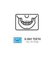 x-ray teeth icon panoramic radiograph jaw vector image vector image