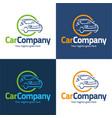 car company logo and icon vector image