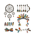 boho collection with arrows vector image