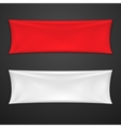 Red And White Textile Banner Set vector image