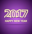 2017 Happy New Year on violet background vector image vector image