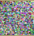 abstract multicolored mosaic triangle tile vector image vector image