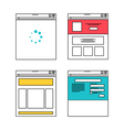 Basic website layout in flat style vector image vector image