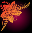 beautiful floral composition vector image vector image