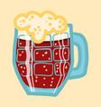 black beer mug icon hand drawn style vector image vector image