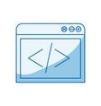 blue color shading silhouette web development icon vector image