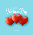 blue valentines day sale background with balloons vector image