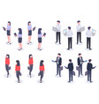 business people isometric set man and woman vector image vector image