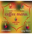 Coffee icon logo for cafe bar shop vector image vector image