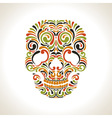 Colorfull ornate scull vector image vector image