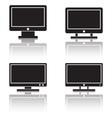 Computer monitor icons vector image
