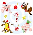 crazy christmas set vector image