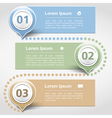 Design Template with Three Banners vector image
