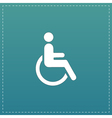 disabled flat icon vector image vector image