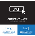 domain ru icon top-level internet vector image vector image