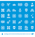 Ecology and environmental conservation icons set vector image
