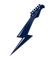 electric guitar headstock in a shape of lightning vector image vector image