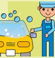 employee car wash service maintenance vector image