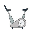 flat design icon of exercise bicycle vector image vector image