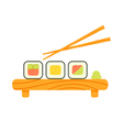 flat style of sushi vector image vector image