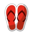 flip flops isolated icon vector image vector image