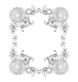 Frame with sketch doodles decorative elements vector image